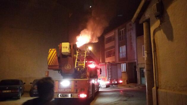 Karantinada olan ailenin evi yangında kullanılamaz hale geldi