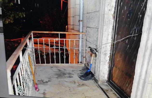 Ayrılmak isteyen eşinin kapısına bomba düzeneği kurdu