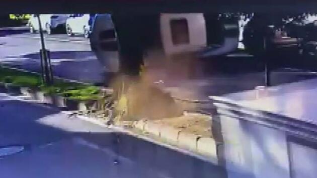 Son Dakika... Enes Batur'un ölümden döndüğü kaza anı kamerada