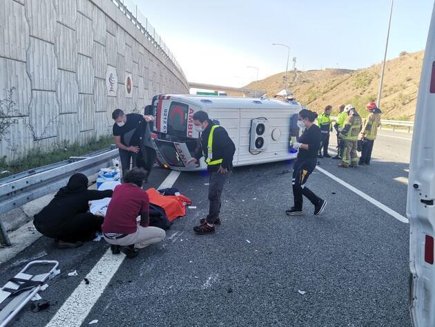 Ambulans 6 metreden düştü, hasta ağır yaralandı