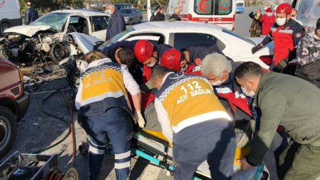 Kontrol için hastaneye giderken kaza geçirdi
