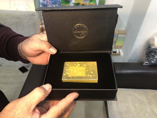 Tanesi 400 lira olan altınlı sabun, 4 ülkeye ihraç ediliyor