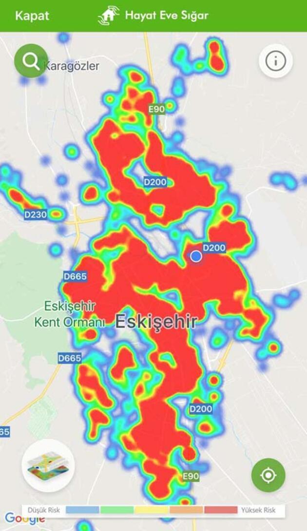 Eskişehir'in risk haritası, son 1 ayda kırmızıya döndü