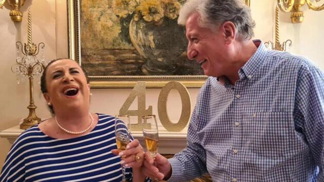 Perran Kutman ve Koral Sarıtaş'ın 40. yıl kutlaması