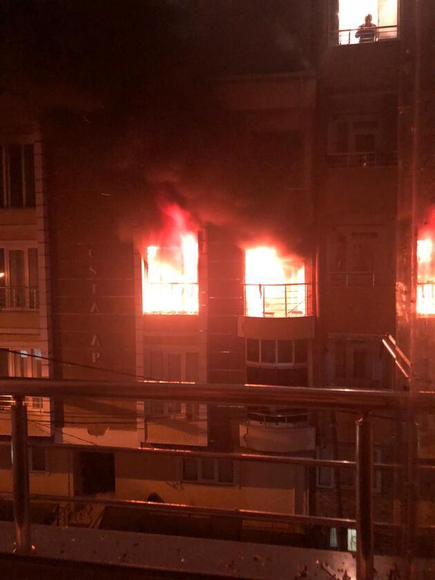 Esenyurt'ta yangın sırasında dairede patlama: 1 ağır yaralı