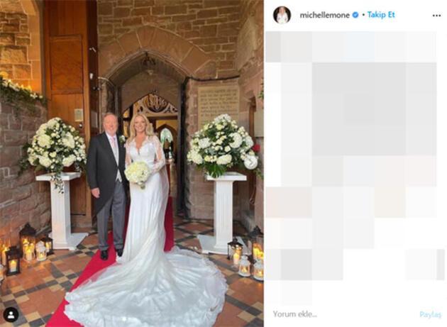 Michelle Mone düğününde köpeğine bile smokin giydirdi