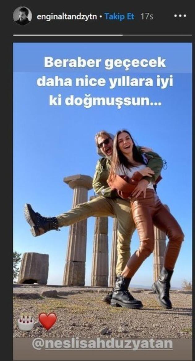 Engin Altan Düzyatan'dan Neslişah Alkoçlar'a romantik kutlama!