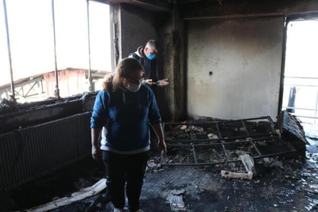 Fabrika yangınında alevlerin sıçradığı binada oturanlar dehşeti yaşadı