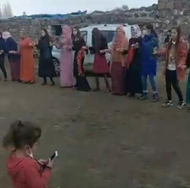 Sosyal medyadan paylaştılar: Iğdır'da Jandarma maskesiz düğüne baskın yaptı
