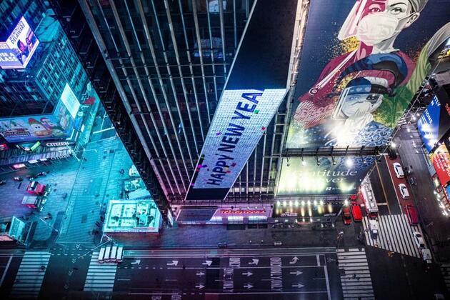 New York Times Meydanı'nda yeni yıl sanal ortamda kutlandı