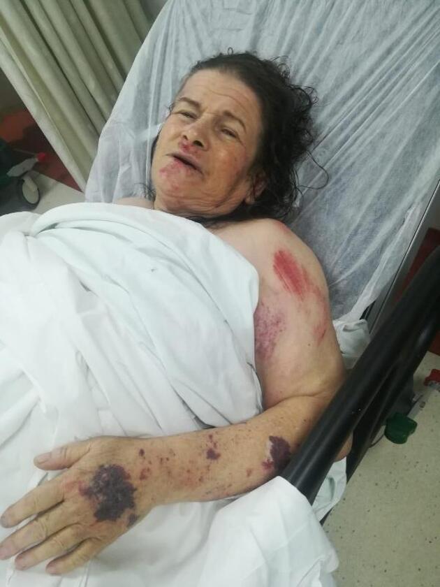 Sele kapılan kadın, park halindeki TIR sayesinde ölümden döndü