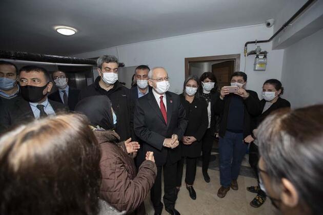 Kılıçdaroğlu ve eşi apartman görevlisi Hüsamettin Büke'nin evine konuk oldu