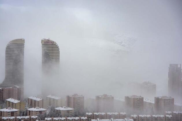 Ankara'da kar ve sis etkili oldu