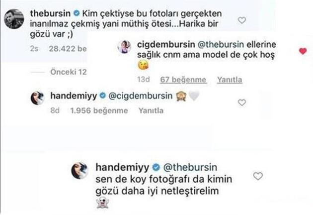 Kerem Bürsin çekti Hande Erçel poz verdi! Annesinin yorumu olay oldu