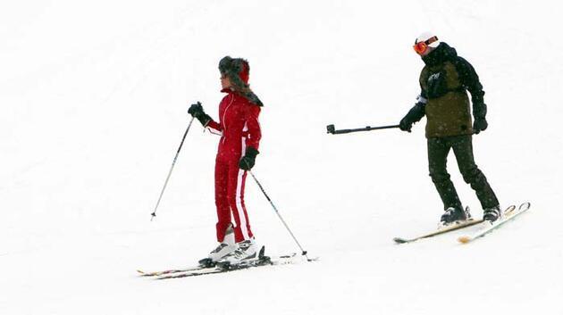Seren Serengil Palandöken'de kayak yaptı!