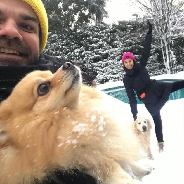 Ünlü isimlerin kar sevinci! Sosyal medyadan paylaştılar