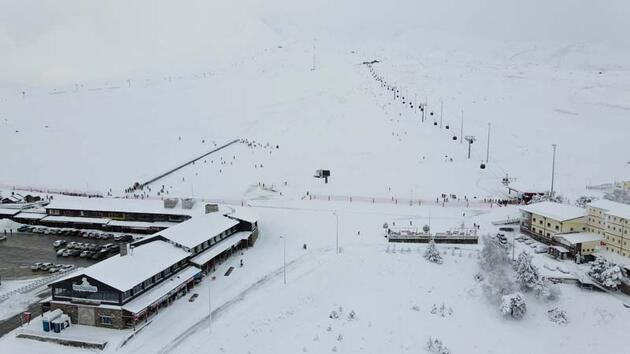 Erciyes'te tatilci yoğunluğu
