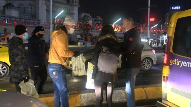 Taksim'de dolmuşta genç kızın cüzdanı çalındı