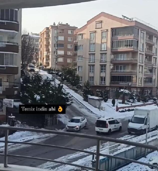 Buz tutan yollardaki sürücüler zor anlar yaşadı