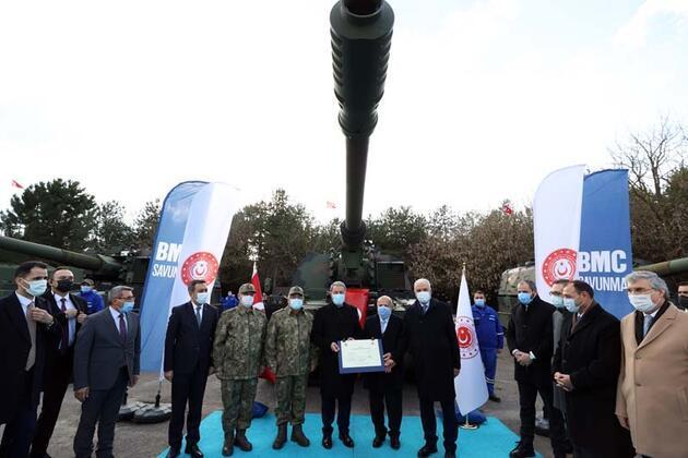 Yeni nesil 3 Fırtına obüsü Akar'ın katıldığı törenle TSK'ya teslim edildi
