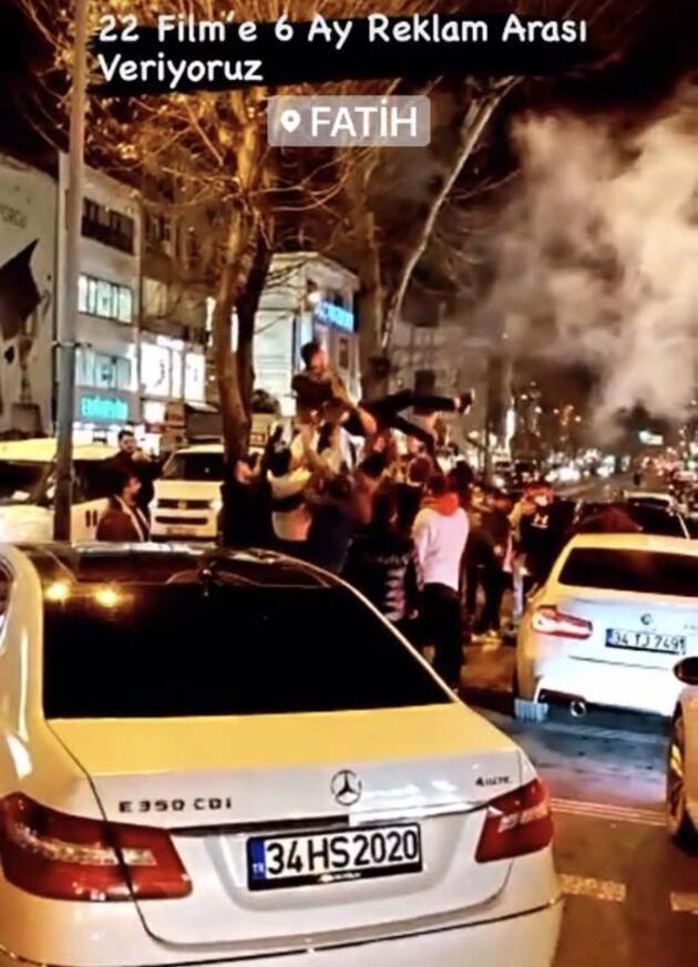 İstanbul'da şoke eden görüntüler! Yasağa rağmen asker uğurladılar...