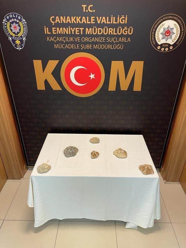Çanakkale'de ele geçirildi! Toplam değeri 6 milyon lira