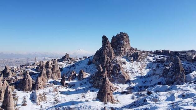 Kar altında bir masal diyarı; Kapadokya
