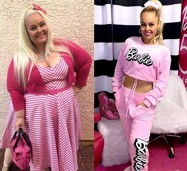 Barbie bebeğe benzemek için 90 kilo verdi