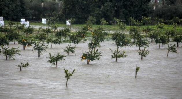Antalya'da fırtına hayatı olumsuz etkiledi