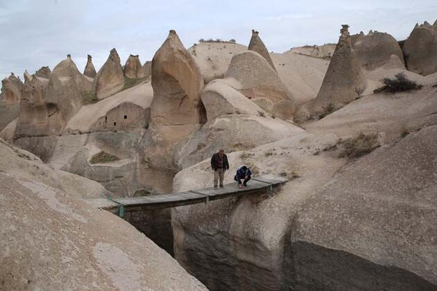 Kapadokya'nın 'gizli hazinesi' Çat Vadisi turistleri ağırlamak için gün sayıyor