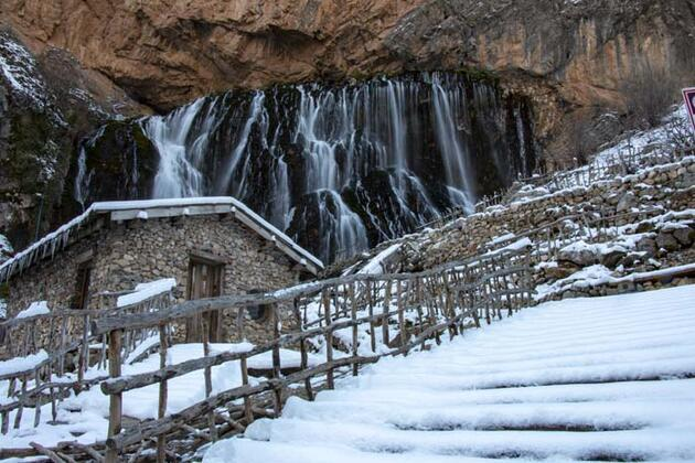 'Türkiye'nin Niagarası' Kapuzbaşı Şelaleleri'nde görsel şölen