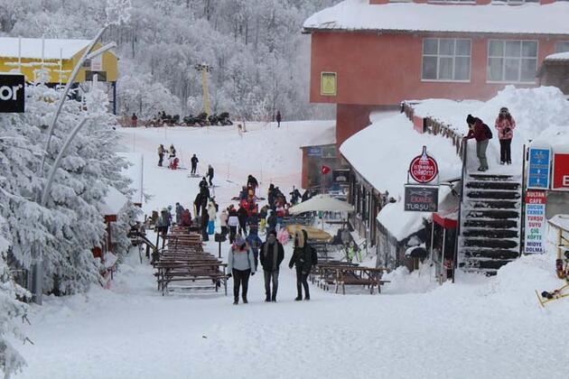 İstanbul'un hemen yanı başında! Kış tatilinin vazgeçilmez adresi oldu