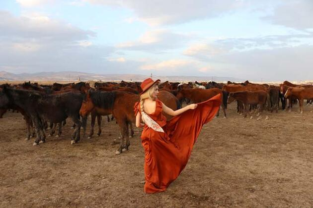 Fotoğraf tutkunlarının yeni gözdesi; Yılkı atlarıyla ünlü 'Hürmetçi Sazlığı'
