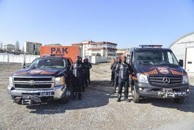 Polis Arama Kurtarma ekipleri göreve hazır