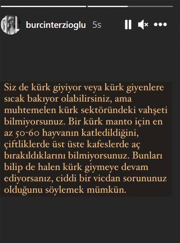 Burçin Terzioğlu'ndan Bülent Ersoy'a kürk tepkisi