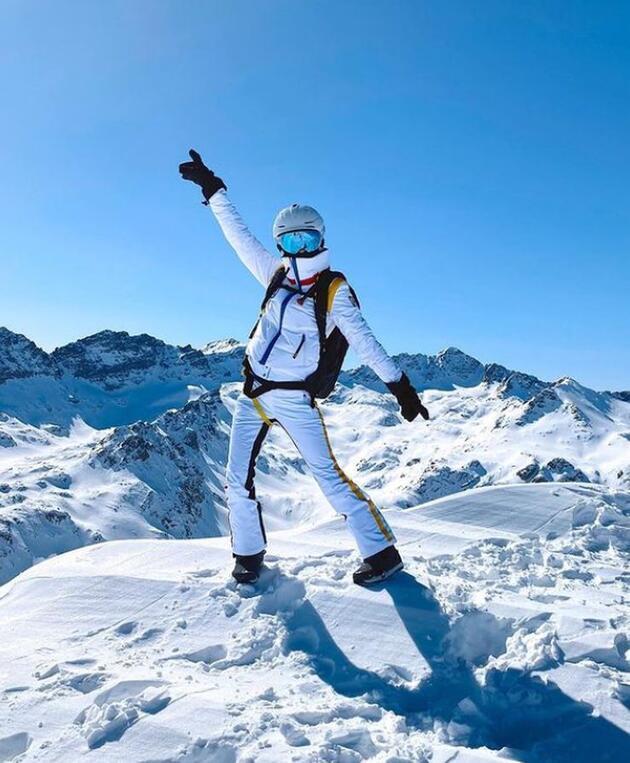Dila Tarkan, 2640 metrede buz kesti