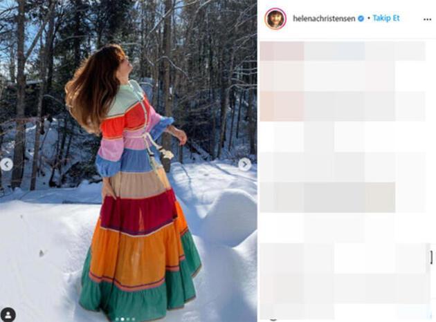 Helena Christensen buz gibi nehre girdi: Yaşadığımı hissediyorum!
