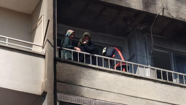 5 katlı apartmanda yangın: 8 kişi kurtarıldı