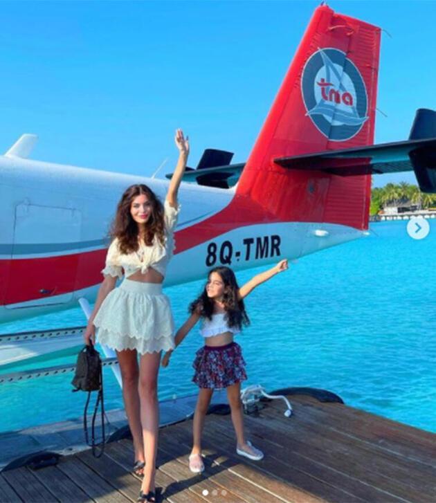 Ceren Hindistan'ın Maldivler pozuna beğeni yağdı