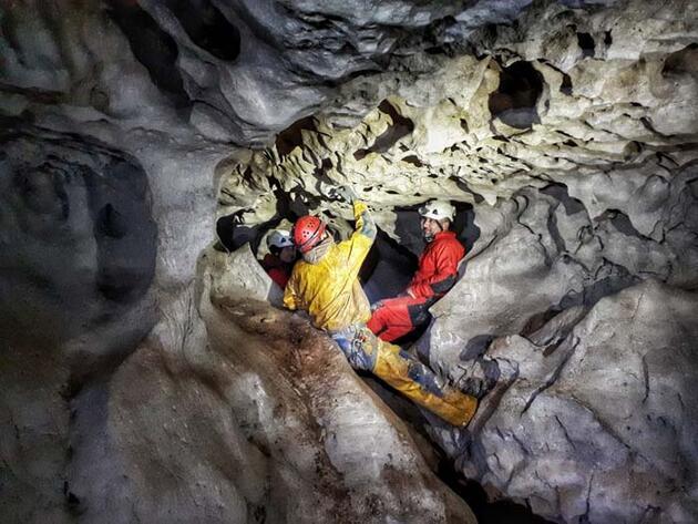 İnsuyu Mağarası'nın gizemli galerileri keşfediliyor! Türkiye'nin turizme açılan ilk mağarası