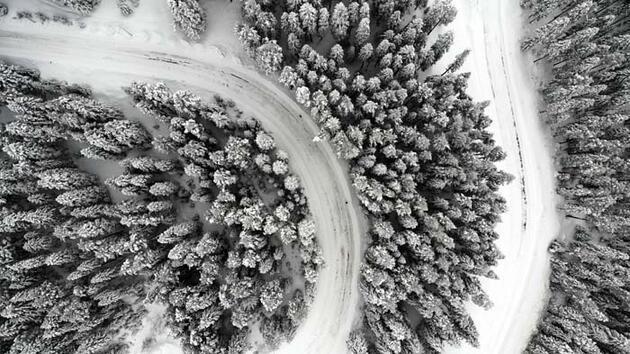'Anadolu'nun yüce dağı' Ilgaz beyaz örtüsüyle eşsiz görüntüler sunuyor