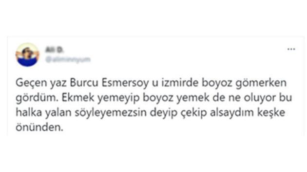Burcu Esmersoy 'ekmek' itirafı hakkında yeni bir açıklama yaptı