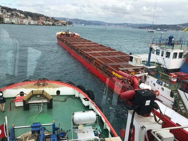 Boğaz'da gemi arızası