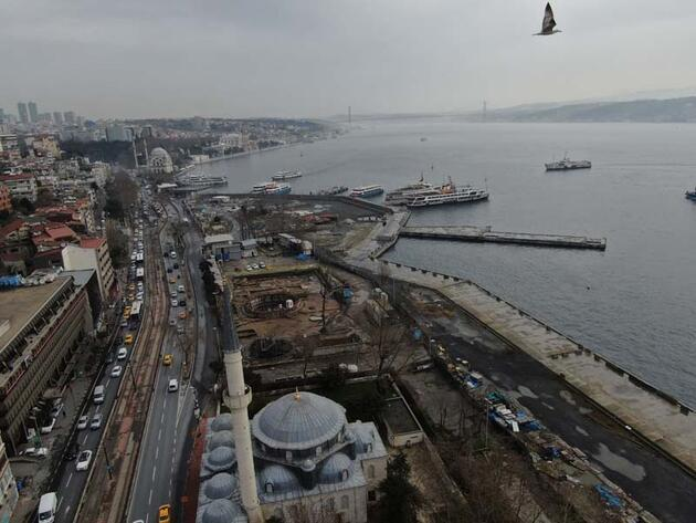 Kabataş'ta İstanbul'un tarihine ışık tutacak kalıntılar