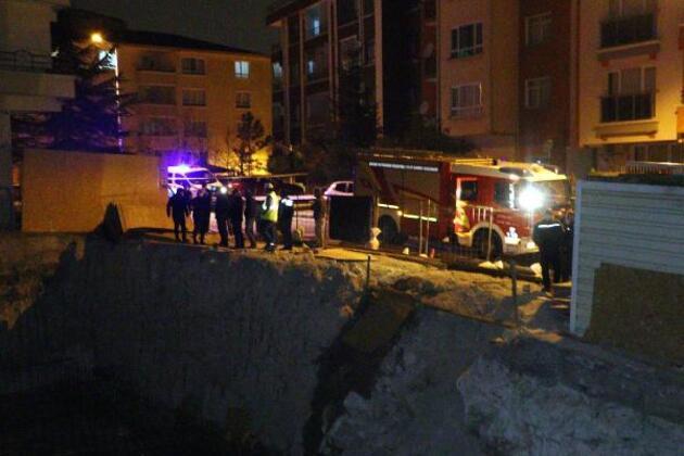Ankara'da toprak kayması nedeniyle bir apartman tahliye edildi