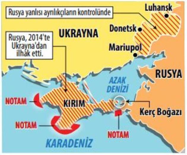 Gerilim sürüyor: Rusya'dan Ukrayna'ya Karadeniz'den abluka