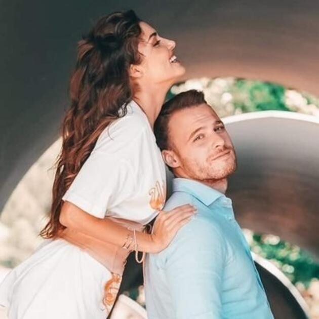 Hande Erçel ve Kerem Bürsin'in Maldivler tatilinden ilk fotoğraf geldi! Pozu olay oldu