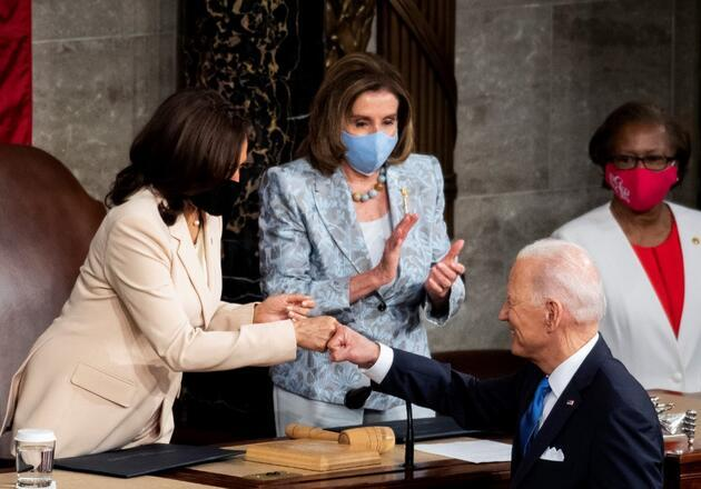 ABD Başkanı Biden, Kongre'deki ilk konuşmasını yaptı: Tarihe geçen detay