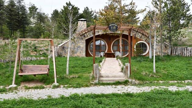 """Sivas'ın """"Hobbit Evleri"""" en sessiz günlerini yaşıyor"""