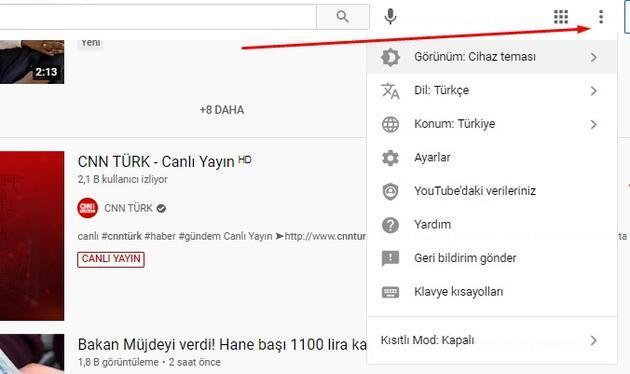 Youtube siyah yapma | Youtube koyu tema nasıl yapılır?